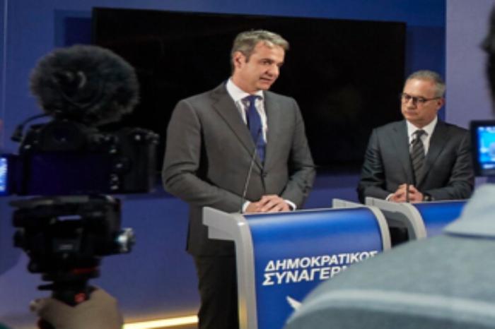 Ο κ. Μητσοτάκης συναντήθηκε με τον Πρόεδρο του Δημοκρατικού Συναγερμού κ. Αβέρωφ Νεοφύτου στα γραφεία του ΔΗ.ΣΥ.