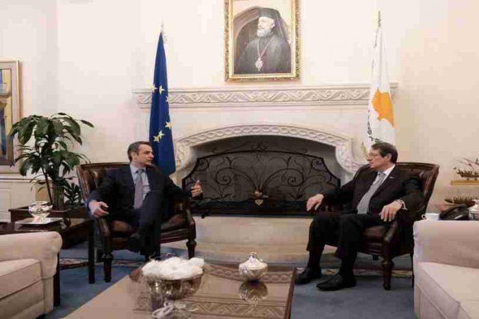 Ο Πρόεδρος της Νέας Δημοκρατίας  συναντήθηκε με τον Πρόεδρο της Κυπριακής Δημοκρατίας