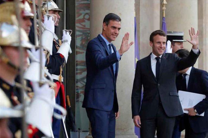 Ο Πέδρο Σάντσεθ συναντήθηκε  στο Παρίσι με τον  Εμανουέλ Μακρόν