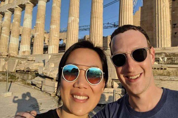 Στην Ακρόπολη ο ιδρυτής του Facebook Μαρκ Ζάκερμπεργκ, μαζί με τη σύζυγό του