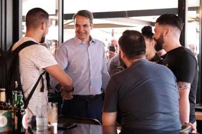 Ο Πρόεδρος της Νέας Δημοκρατίας Κυριάκος Μητσοτάκης σε ανοιχτή συζήτηση με πολίτες, κατά την επίσκεψή του στον Κορυδαλλό