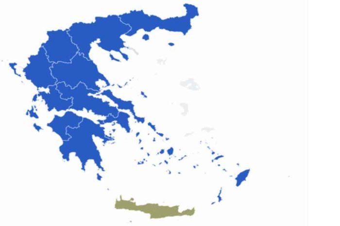 Νίκη της ΝΔ στις 12 από τις 13 περιφέρειες της χώρες