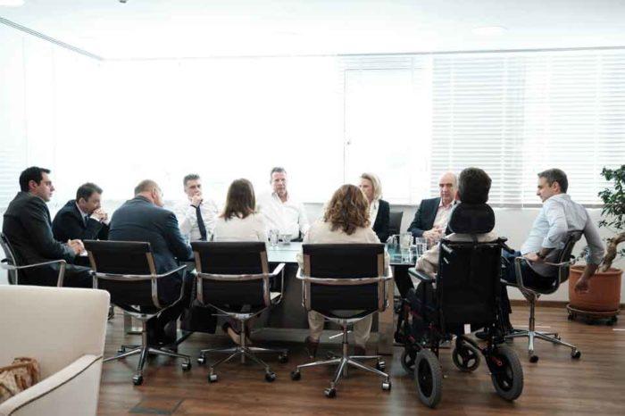 Με τους νεοεκλεγέντες Ευρωβουλευτές της Ν.Δ.συναντήθηκε ο Κυριάκος Μητσοτάκης