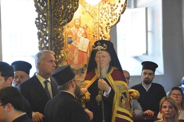 Η εγκαθίδρυση του Επισκόπου Ερυθρών Κυρίλλου ως νέου Ηγουμένου της Ιεράς Πατριαρχικής και Σταυροπηγιακής Μονής Αγίας Τριάδος Χάλκης