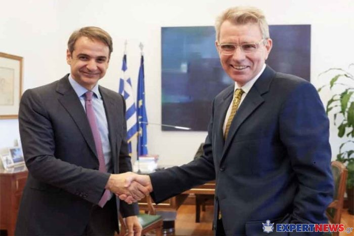 Ο Κυριάκος Μητσοτάκης, συναντήθηκε  με τον πρέσβη των ΗΠΑ στην Αθήνα, κ.Τζέφρι Πάιατ