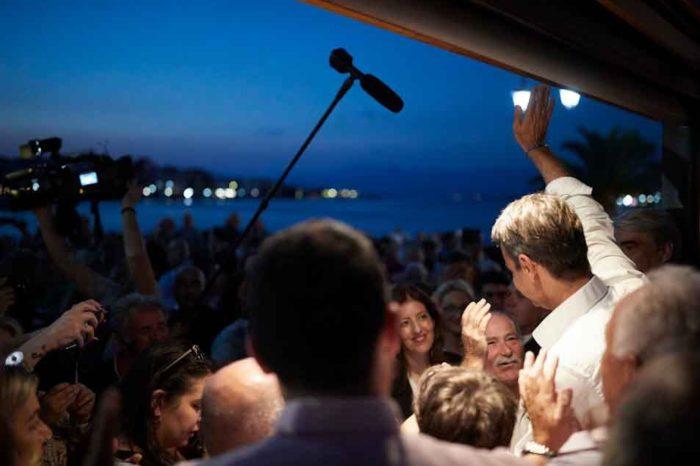 Ο Κυριάκος Μητσοτάκης, έθεσε το βασικό δίλημμα των εκλογών: Αν θα δώσουμε ένα οριστικό τέλος σε αυτή την κρίση ή αν θα συνεχίσουμε στο τέλμα, τη στασιμότητα, την υπερφορολόγηση και την ανασφάλεια