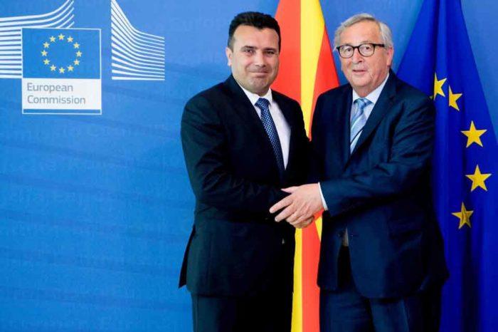 Ο Ζ.Κ. Γιούνκερ συναντήθηκε  στις Βρυξέλλες με τον Ζ. Ζάεφ