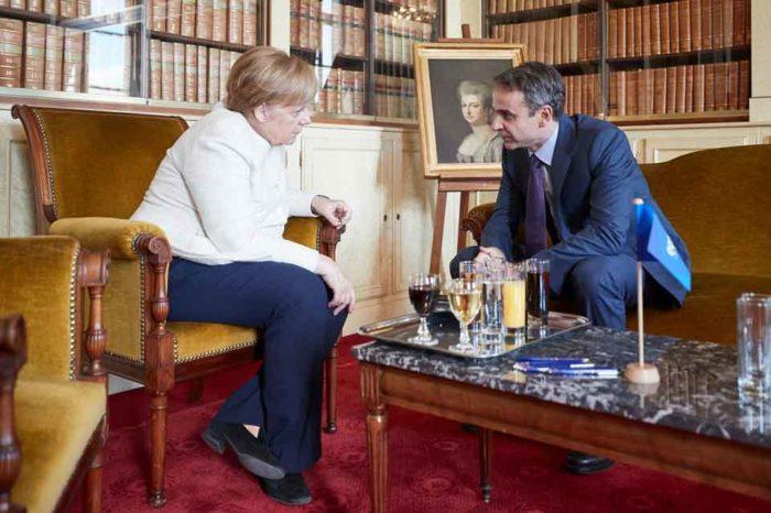 Συνάντηση με τη Γερμανίδα Καγκελάριο, κ. Άγγελα Μέρκελ είxε ο  Κυριάκος Μητσοτάκης