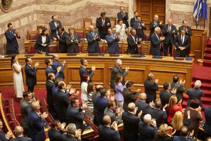Την ψήφο εμπιστοσύνης των 158 βουλευτών της έλαβε η κυβέρνηση