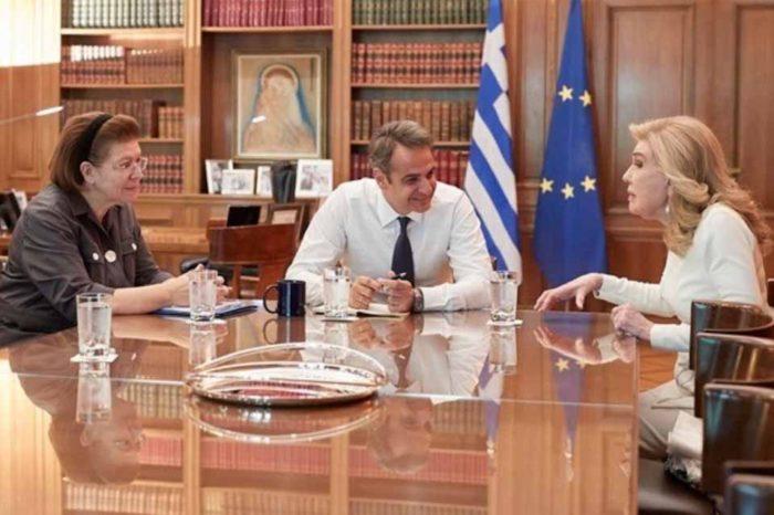 Ο πρωθυπουργός ,δέχθηκε σήμερα στο γραφείο του την πρέσβειρα Καλής Θελήσεως της UNESCO