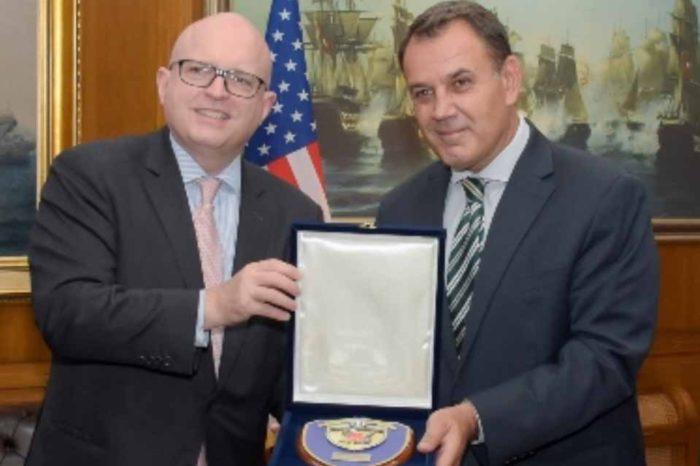 Ο Νικόλαος Παναγιωτόπουλος είχε σήμερα συνάντηση με τον  Philip T. Reeker