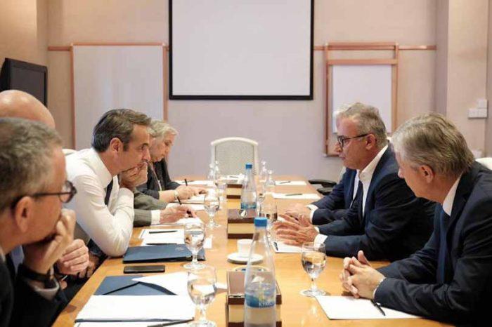 Συναντήσεις του πρωθυπουργού κ.Κυριάκου Μητσοτάκη με τους Αρχηγούς των Κοινοβουλευτικών Κομμάτων στη Κύπρο
