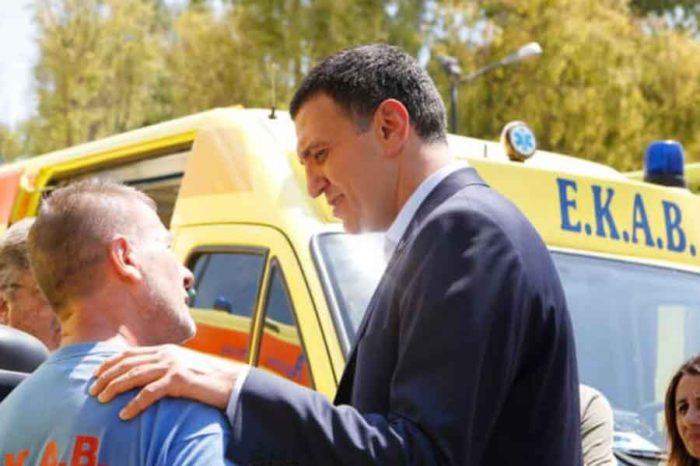Στο Νοσοκομείο Χαλκίδας ο υπουργός Βασίλης Κικίλιας
