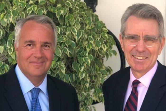 Συνάντηση ΥπΑΑΤ, Μάκη Βορίδη  με τον Αμερικανό Πρέσβη Τζ. Ρ. Πάιατ