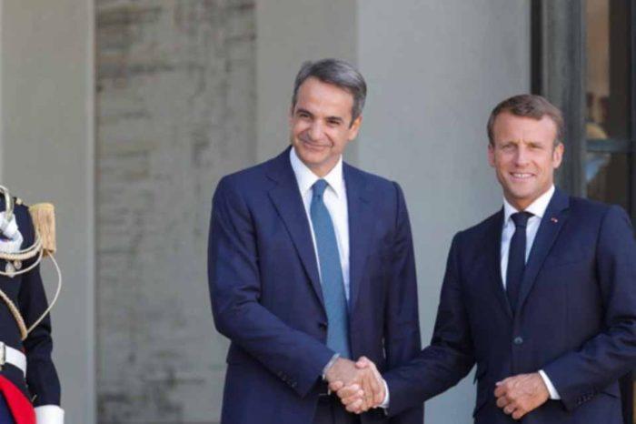Σε άριστο κλίμα η συνάντηση του Πρωθυπουργού,  με τον Πρόεδρο της Γαλλικής Δημοκρατίας, Εμανουέλ Μακρόν