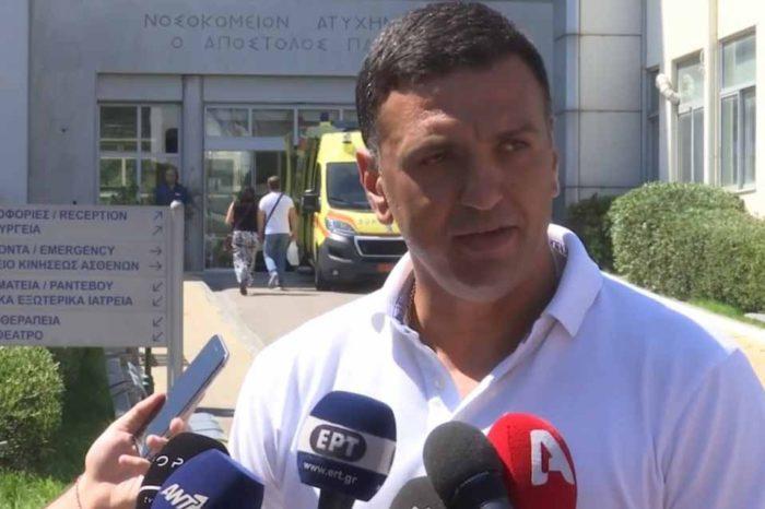 Τον πυροσβέστη που υπέστη εγκαύματα  επισκέφθηκε,  ο υπουργός Υγείας