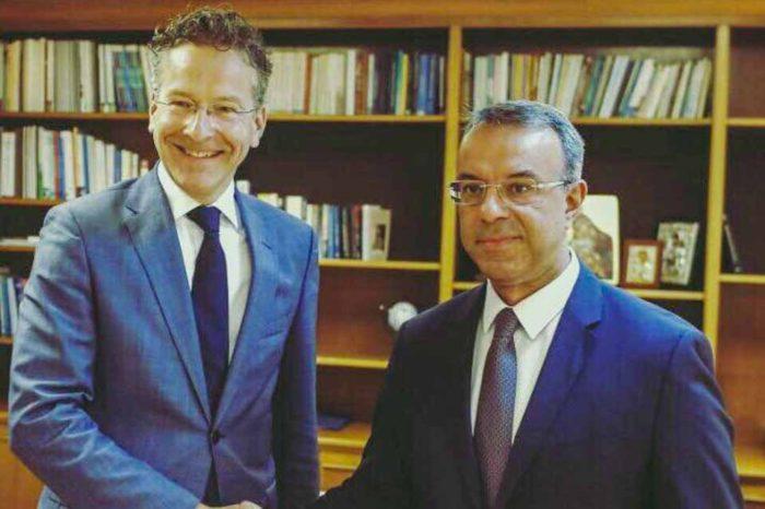 Συνάντηση  Χρήστου Σταικούρα με τον Γερούν Ντάισεμπλουμ για τη θέση του επικεφαλής του Διεθνούς Νομισματικού Ταμείου