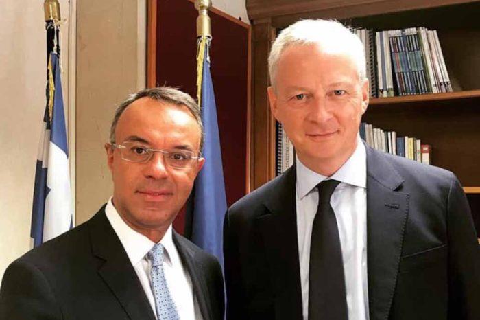 Συνάντηση του υπουργού Οικονομικών, Χρήστο Σταϊκούρα, με τον Γάλλο ομόλογό του, Μπρουνό Λεμέρ