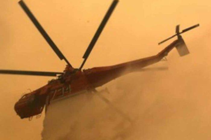 Δίνουν μάχη με τις φλόγες οι δυνάμεις της Πυροσβεστικής στην Εύβοια