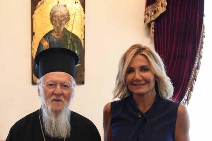 Στο  Οικουμενικό Πατριαρχείο , η Μαρέβα Γκραμπόφσκι Μητσοτάκη