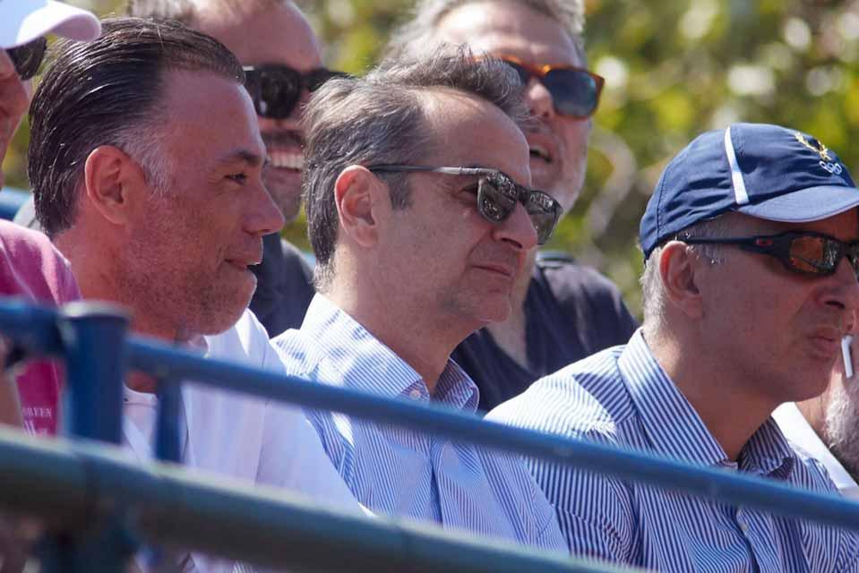 Ο Πρωθυπουργός Κυριάκος Μητσοτάκης στο Davis Cup