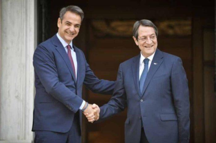 Κυριάκος  Μητσοτάκης : Η Ελλάδα στέκεται στο πλευρό της Κυπριακής Δημοκρατίας