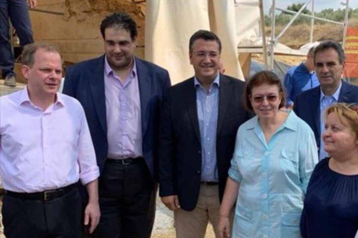Στον Τύμβο Καστά η υπουργός πολιτισμού, Προγραμματισμός των επόμενων σταδίων ανάδειξης του μνημείου