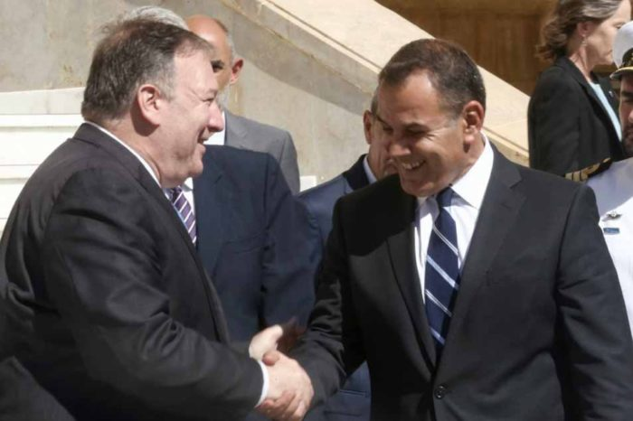 Ο υπουργός Εθνικής 'Αμυνας, Νικόλαος Παναγιωτόπουλος, υποδέχθηκε τον υπουργό Εξωτεπικών των ΗΠΑ