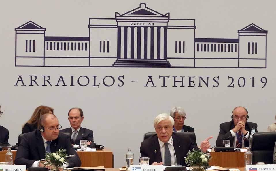 Arraiolos : Η«Διακήρυξη των Αθηνών», από τους μετέχοντες Προέδρους της Δημοκρατίας