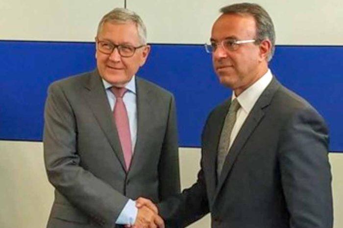 Ο Χρήστος Σταϊκούρας, συναντήθηκε με τον Κλάους Ρέγκλινγκ.