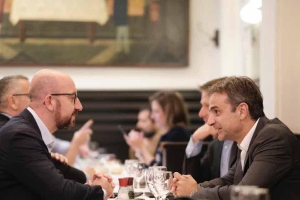 Δείπνο με τον επόμενο Πρόεδρο του Ευρωπαϊκού Συμβουλίου και Πρωθυπουργό του Βελγίου είχε στις Βρυξέλλες ο Πρωθυπουργός