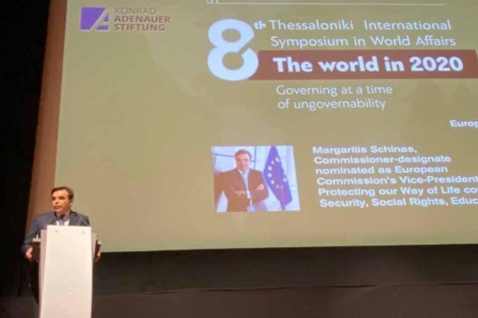 Μαργαρίτης Σχοινάς : Η Ευρώπη σήμερα αποτελεί μια άγκυρα σταθερότητας σ' έναν ανασφαλή κόσμο