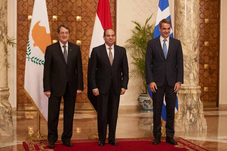 Κάιρο : Η 7η Τριμερής Σύνοδος Κορυφής  στέλνει μηνύματα στην Τουρκία