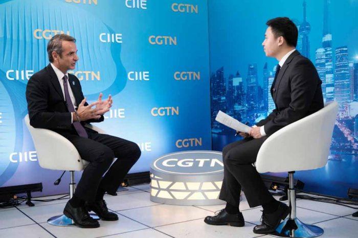 Η  Ελλάδα είναι ''open for business'', είπε ο πρωθυπουργός σε συνέντευξή του, στο δίκτυο CGTN