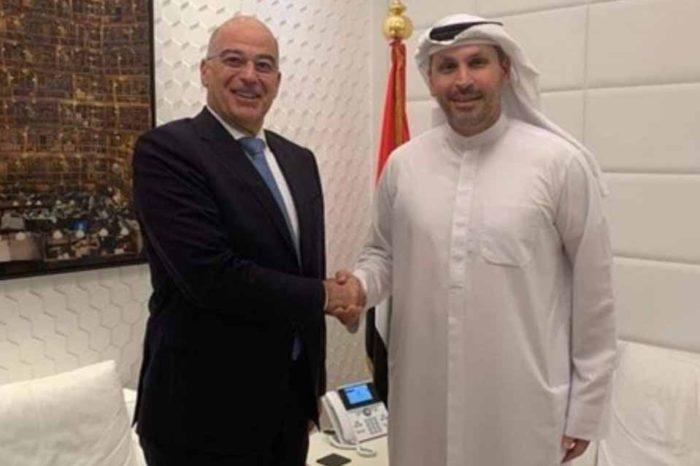 Με οικονομικούς παράγοντες των Ηνωμένων Αραβικών Εμιράτων συναντάται σήμερα ο Νίκος Δένδιας