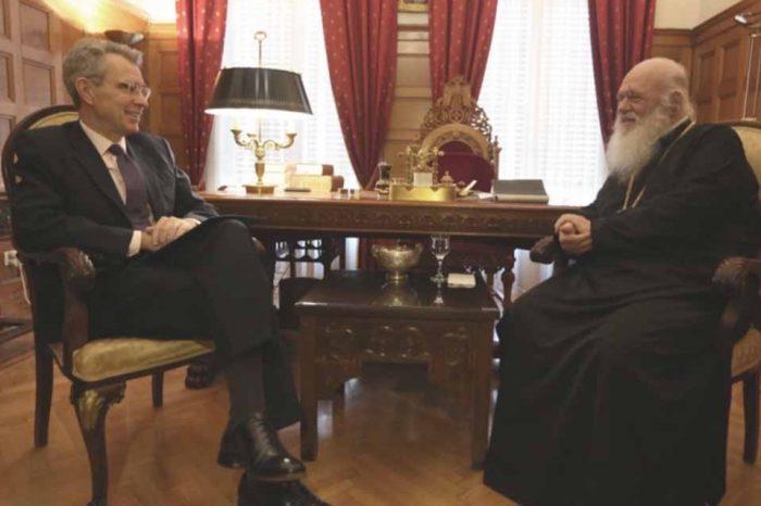 Με τον Αρχιεπίσκοπο Ιερώνυμο, συναντήθηκε ο Πρέσβης των ΗΠΑ στην Αθήνα Τζέφρι Πάιατ