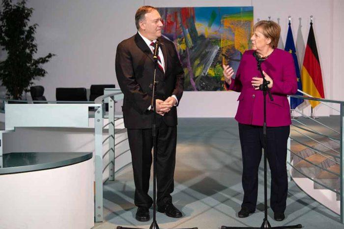 Μάικ Πομπέο : Η Άγγελα Μέρκελ είναι ένας μεγάλος φίλος των ΗΠΑ και η Γερμανία ένας σημαντικός εταίρος