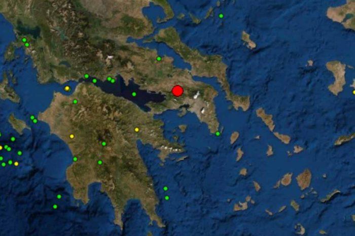 :Σεισμός στην Αττική.  μεγέθους 3,8 βαθμών της Κλίμακας Ρίχτερ