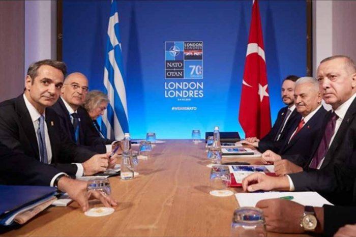 Η συνάντηση του πρωθυπουργού Κυριάκου Μητσοτάκη με τον  Ρετζέπ Ταγίπ Ερντογάν