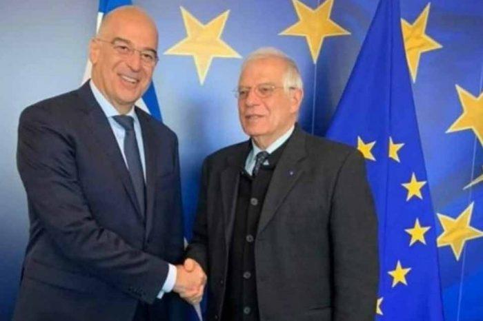 Βρυξέλλες : Η Συνάντηση του Νίκου Δένδια με τον Josep Borrell