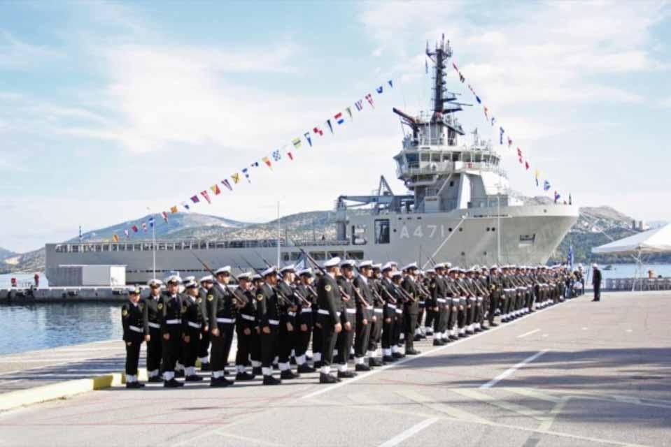 Ατλας Ι :Τελετή ένταξης στο Πολεμικό Ναυτικό