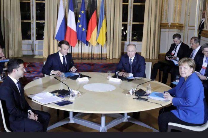 Στο Παρίσι συνάντηθηκαν, ο  Βλαντίμιρ Πούτιν και ο Βολοντίμιρ Ζελένσκι