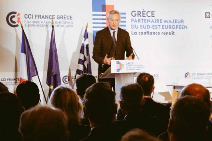 Ο Μπρουνό Λεμέρ κάλεσε σήμερα τις γαλλικές επιχειρήσεις να επενδύσουν στην Ελλάδα