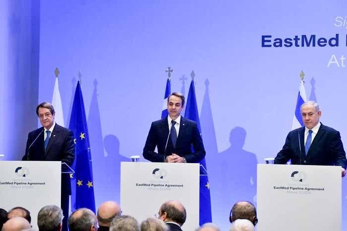 Κυριάκος Μητσοτάκης: Η συμφωνία  για τον EastMed έχει οικονομική, αναπτυξιακή, διπλωματική, και γεωστρατηγική διάσταση.