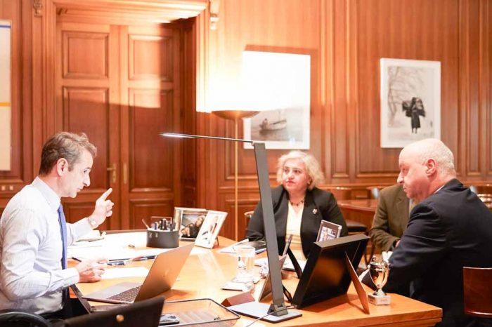 Συνάντηση του Πρωθυπουργού, με τον Πρόεδρο της Πανελλήνιας Ομοσπονδίας Πολιτιστικών Συλλόγων Βλάχων
