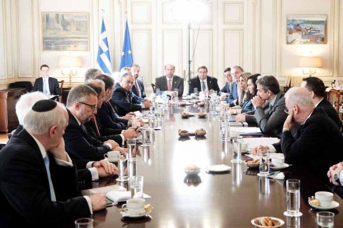 Ο Πρωθυπουργός συναντήθηκε τα προεδρεία των  Ελληνοαμερικανικών και Αμερικανοεβραϊκών οργανώσεων