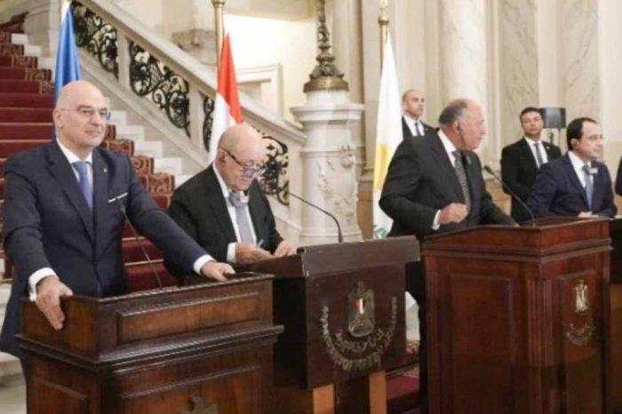 ΥΠΕΞ Ελλάδας, Αιγύπτου, Κύπρου, Ιταλίας και Γαλλίας: Άκυρα και χωρίς ισχύ τα μνημόνια Τουρκίας-Σάρατζ