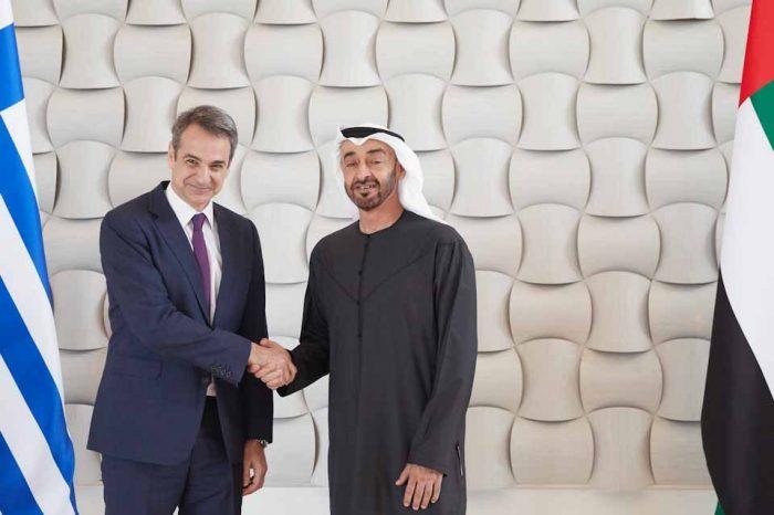 Οι επενδύσεις στο επίκεντρο στη συνάντηση του Πρωθυπουργού, με τον Σεΐχη Mohammed Bin Zayed Al Nahya