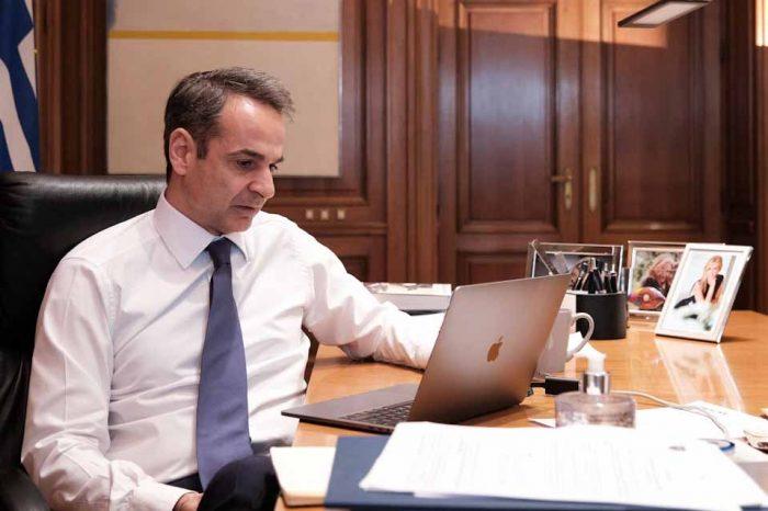 Στις 17:00 η τηλεδιάσκεψη του Πρωθυπουργού με τους ηγέτες της Ε.Ε. για τον COVID19