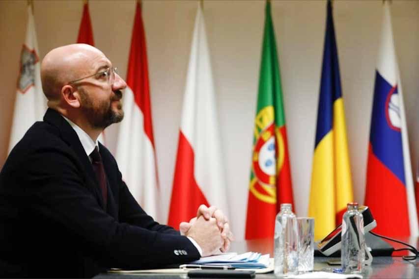 Ο Πρωθυπουργός σε τηλεδιάσκεψη με τους ηγέτες της Ευρώπης